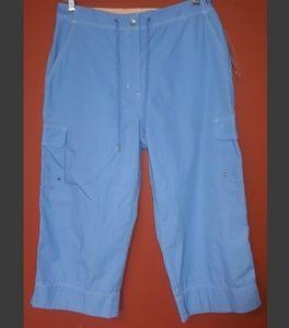 Ralph Lauren blue cargo capri pants